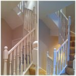 stairs before and after - ISDecs Painting & Decorating Rotherham Sheffield Leeds