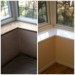 eggshell windowsill - ISDecs Painting & Decorating Rotherham Sheffield Leeds